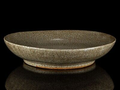 c1150 Chinese Song Dynasty Longquan Gae Yao Crackle Bowl