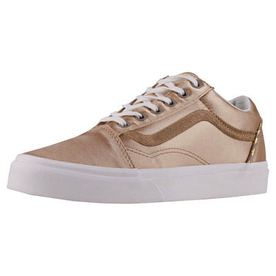 Vans Old Skool Dx Womens Gold Beige Textile Trainers