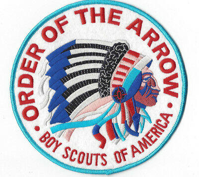 "OA Jacket Patch 6"" Round White Background Classic Order of the Arrow Flap"