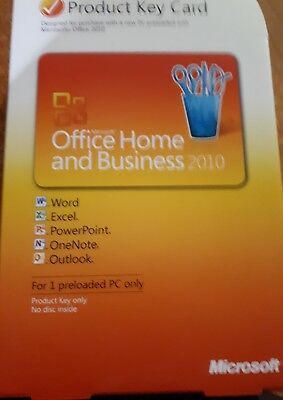 Microsoft Office Home and Business 2010 PKC - Key Card