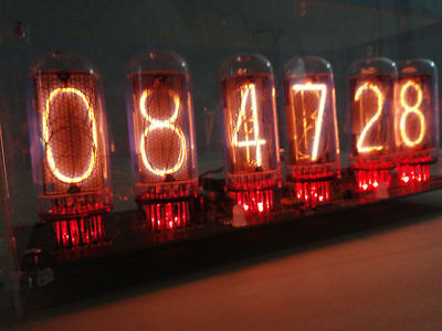 NIXT CLOCK - IN18 Nixie Clock with power supply hard case DIY Kit(NO TUBE)