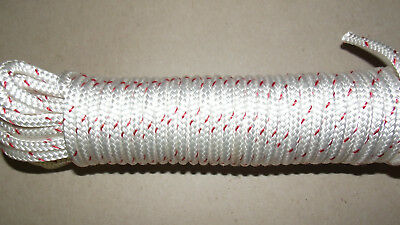 """1/4"""" x 100' Sail/Halyard Line, Double Braid Polyester, Jibsheets, Boat Rope -NEW"""