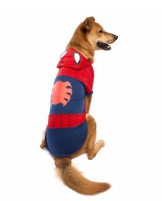 Genuine Marvel Comics Dog Spiderman Superheros Costume Fancy Dress Outfit XL