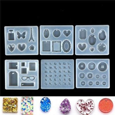 Silicone Resin Mold for DIY Jewelry Pendant Making Tool Mould Handmade Craft TH