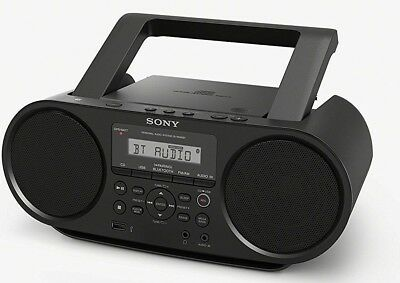 Sony ZSRS60BT CD Boombox W/ Bluetooth, USB, Headphone/Line-in Jacks 26 HR BATT