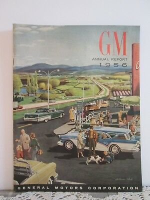 Vintage 1956 GM Annual Report