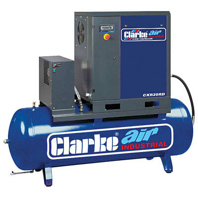 Clarke CXR20RD 20HP Industrial Screw Compressor with Air Receiver & Dryer