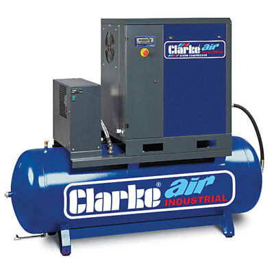 Clarke CXR15RD 15HP Industrial Screw Compressor with Air Receiver & Dryer