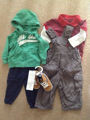 Bundle Baby Boy's Joggers Dungarees Top NEW Shoes 3-6 Months Carter's M&S