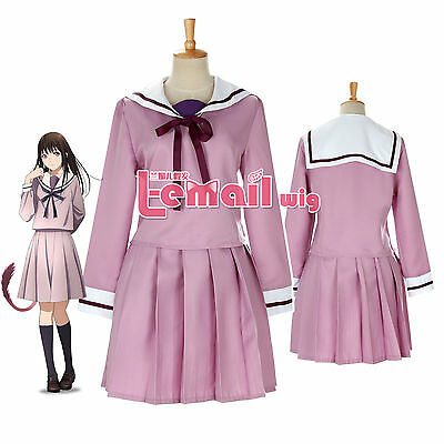 Noragami Hiyori Iki Purple Sailor School Uniform Cosplay Uniform Dress Outfit1