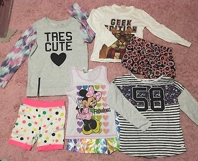 Size 7 Girls Mixed Bundle Eve's Sister Cotton On Pink Sugar Zara Kids Disney