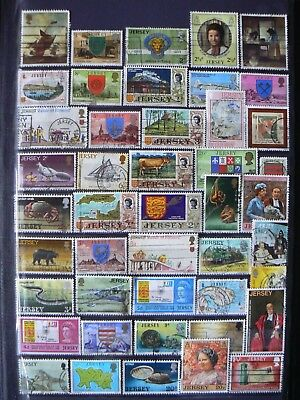 Collection Of Jersey Gb Channel Islands Stamps