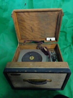 1950s Antique Webcor EP1863-1 4-Speed Portable Record Player Changer