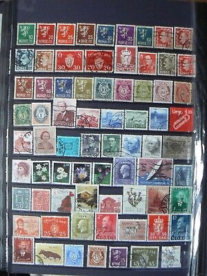 Collection Of Norway Norwegian Norge Noreg Stamps