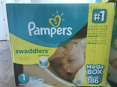Pampers Swaddlers Newborn Diapers Size 1 186 Count
