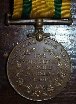 Territorial War Medal to E.B.Riches Northumberland Fusiliers