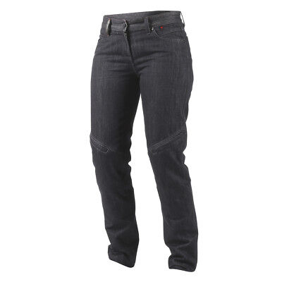 Dainese Queensville Wonems Ladies Jeans/pants Black Denim Aramid Sz 32