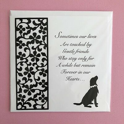 loss of pet sympathy card dog cat sometimes our lives are