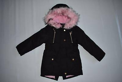 Girl's Warm Parka Style Jacket Coat with Hood 4 to 14 years Back to School