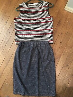 st john Collection By Marie Gray Top Skirt 2 Piece Top P Skirt 2