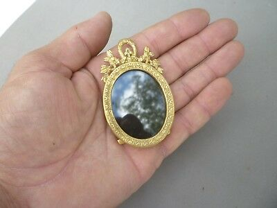 Antique French Ormolu Small Picture Frame Bronze Original 3 inches