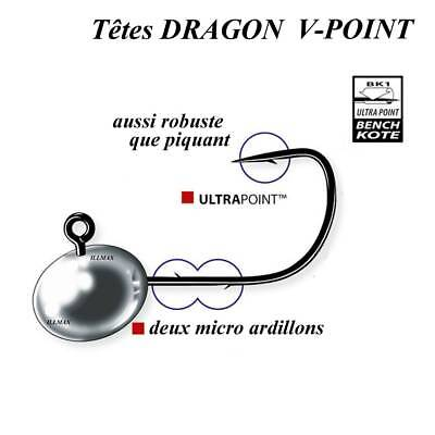 têtes plombees dragon v-point micro