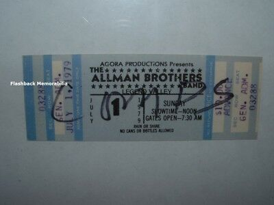 ALLMAN BROTHERS Unused 1979 Concert Ticket COLUMBUS Legend Valley BUCKEYE LAKE