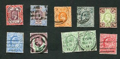 Stamp Lot Of Great Britain, 1902-09 ($250+)