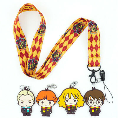 Harry Potter Gryffindor Lanyard Neck Strap Charms Cell Phone Rope KeyChain Gift