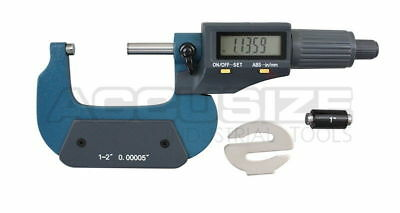 "1-2""x0.00005""2 Key Electronic Digital Outside Micrometer with Output #MD71-0002N"