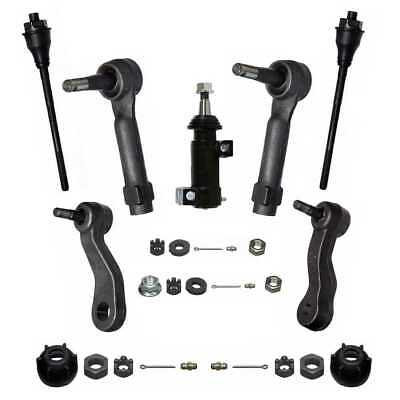 7PC 4WD Front End Kit Inner Outer Tie Rod Idler Arm Idler Arm Bracket Pitman Arm