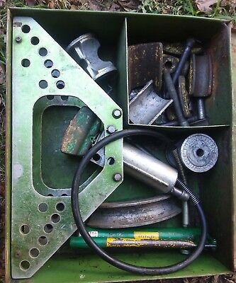 GREENLEE 777 CONDUIT PIPE BENDER 1 1/4 to 4 inch DIES FRAME HYDRAULIC PUMP