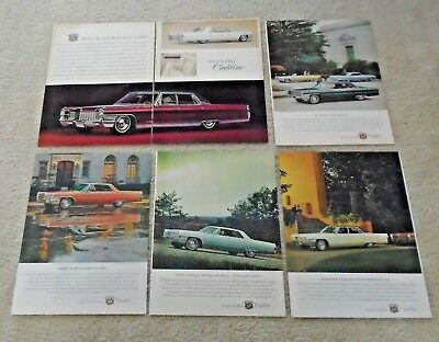 GM GENERAL MOTORS CADILLAC MAGAZINE ADD COLLECTION OF 5 FROM 1965 see all pics