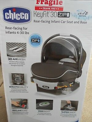 Chicco KeyFit 30 Zip Infant Car Seat # Eclipse