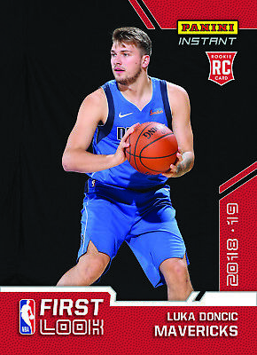 2018-2019 Panini First Look Luka Doncic #TBD RC NBA Draft Rookie PS Dallas