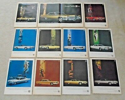 GM GENERAL MOTORS CADILLAC MAGAZINE ADD COLLECTION OF 11 FROM 1969 see all pics