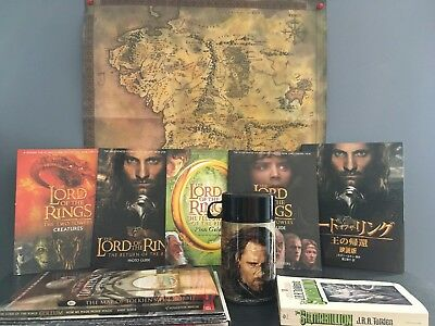 Lord of the Rings Weta Aragorn Tolkien RARE Lot OOP Books Guides Maps More