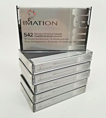 (6) Lot Of Six Imation 542 Standard Dictating Cassettes 30 min Tapes New Sealed