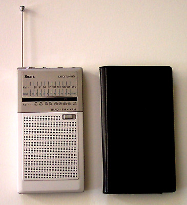 VINTAGE SEARS SOLID AM / FM TRANSISTOR RADIO HAND HELD PORTABLE free shipping