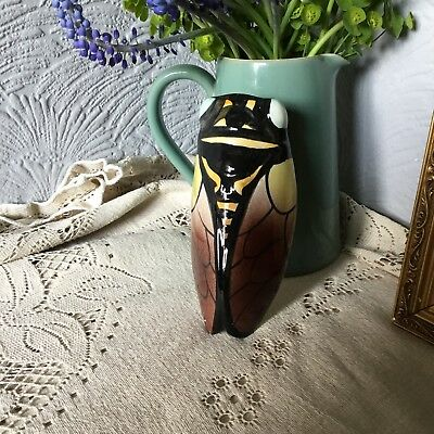 Vintage French Vallauris Cicada Wall Pocket Vase  #4759