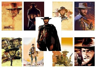 Clint Eastwood Westerns, Good Bad & the Ugly etc  A5 A4 A3 Texless Movie Posters