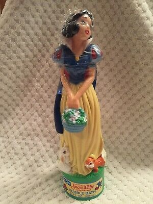 Vintage 1993 Disney Snow White and The Seven Dwarfs Bubble Bath Bottle SealedNOS