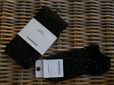 """NWT COUNTRY ROAD/Australia """"Fleck"""" Tights & Ankle Socks - Average/One Size"""