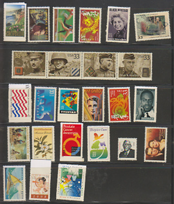 US Stamp Lot, 25 all different 33 cent stamps, mnh, no damage, PO fresh Bargain!