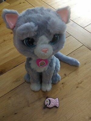 FURREAL cat kitten TOY pet interactive with fish. Fantastic condition!