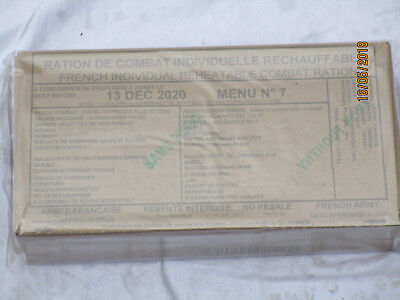 French Ration, RCIR,24 Hour Combat Einsatzration,MRE,EPA, Menu No. 7