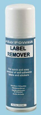 LABEL REMOVER SPRAY Remove Sticky Gluey Labels Stickers CLEANLY & EASILY