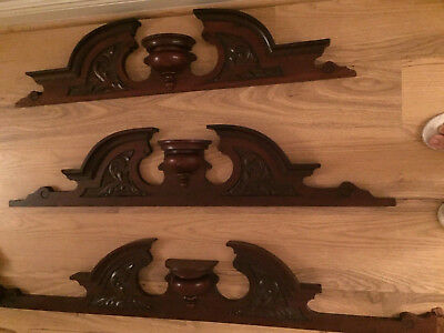 3 pcs Antique Carved Supraporte Door  Beautiful mahogany wood