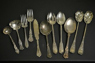 Silverplate Flatware Lot 11 Piece Serving Piece Higher Quality Collectible