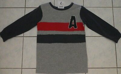Boy's clothing  grey/navy/red l.s. top size 3 brand new with tags